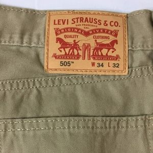 Levi's Men's 505 100% Cotton Tan Pants